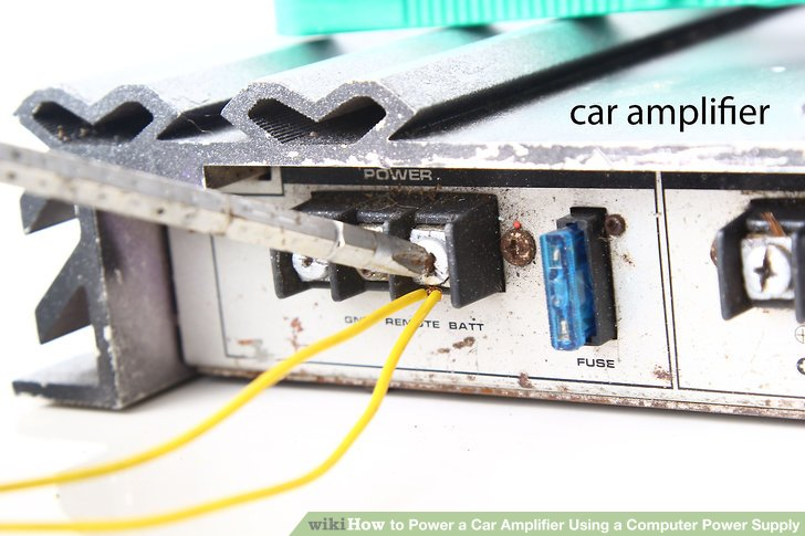 wiring diagram for car amplifier sickle cell inheritance how to power a using computer supply image titled step 7