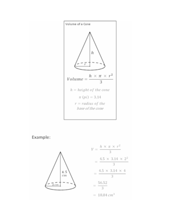 How to Calculate the Volume of a Cone (with Examples