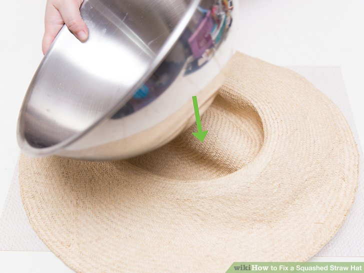 Put a round object inside the hat.