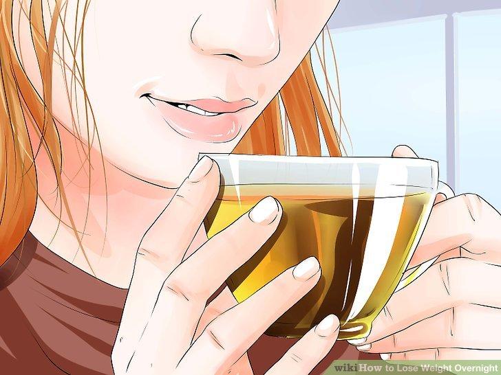 Trinken Sie grünen Tee vor dem Schlafengehen.