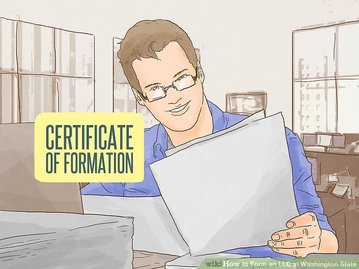 Access and complete the certificate of formation.