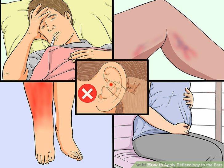 Unterlassen Sie die Reflexzonenmassage, wenn Sie unter gesundheitlichen Beschwerden leiden.