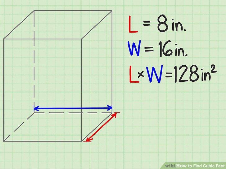 Multiplizieren Sie die Länge mit der Breite.