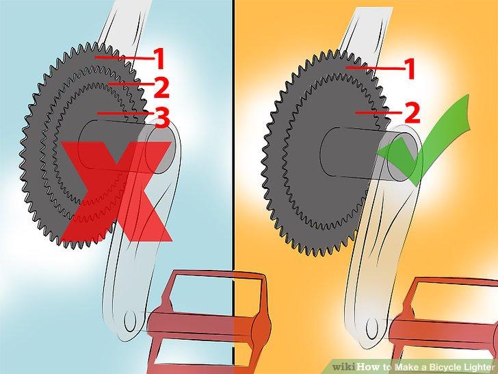 Schalten Sie zu einer Doppelkurbel in Ihren vorderen Gängen.