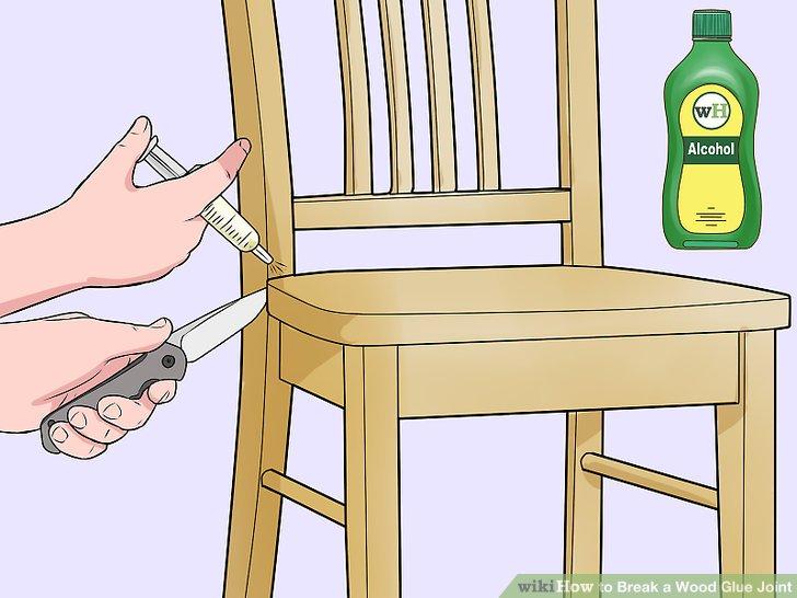 Sprühen Sie mehr Alkohol in das Gelenk, wenn es sich öffnet.