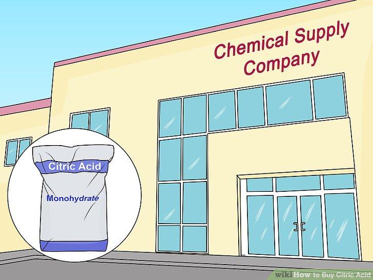 Sitrik asidi kimyasal bir tedarik şirketi aracılığıyla satın alın.