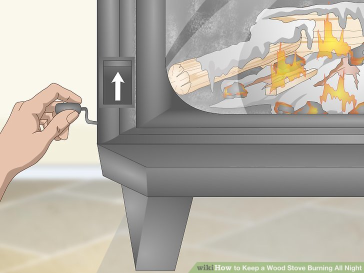 Reduce the airflow when the outer pieces of wood have a thick layer of charcoal.