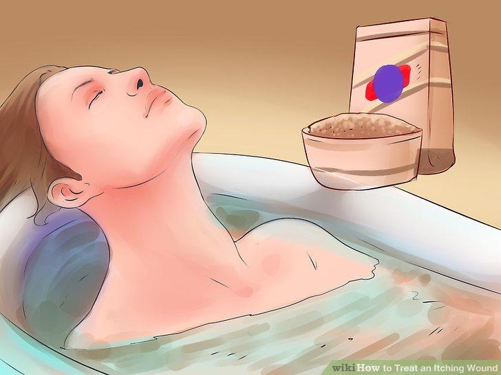 Nehmen Sie ein Haferflockenbad.