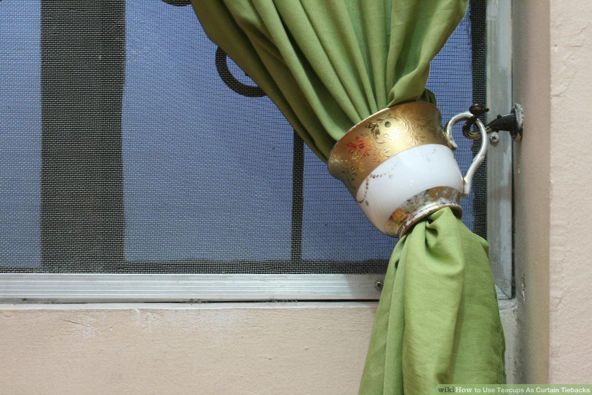 how to use teacups as curtain tiebacks