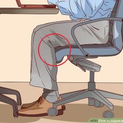 Desk Chair Leans Forward Hanging Cad How To Adjust An Office With Pictures Wikihow Image Titled Step 4