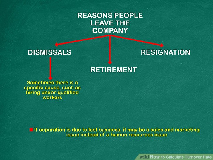 Analysieren Sie die Gründe, warum Menschen das Unternehmen verlassen.