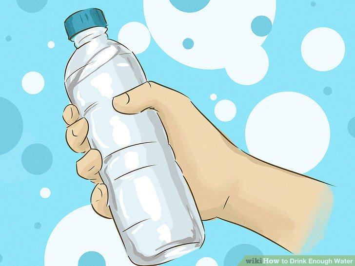 Halten Sie den ganzen Tag eine Wasserflasche bei sich.