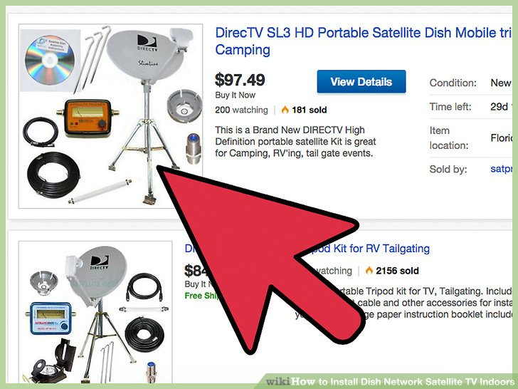 How to Install Dish Network Satellite TV Indoors 7 Steps