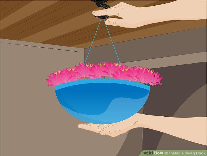 Hängen Sie das Gerät / die frisch bewässerte Pflanze an den Beißhaken - halten Sie die Hände darunter -, so dass es sich verfangen kann, wenn die Last größer ist als das Fassungsvermögen der Binde- oder Befestigungsmethode.