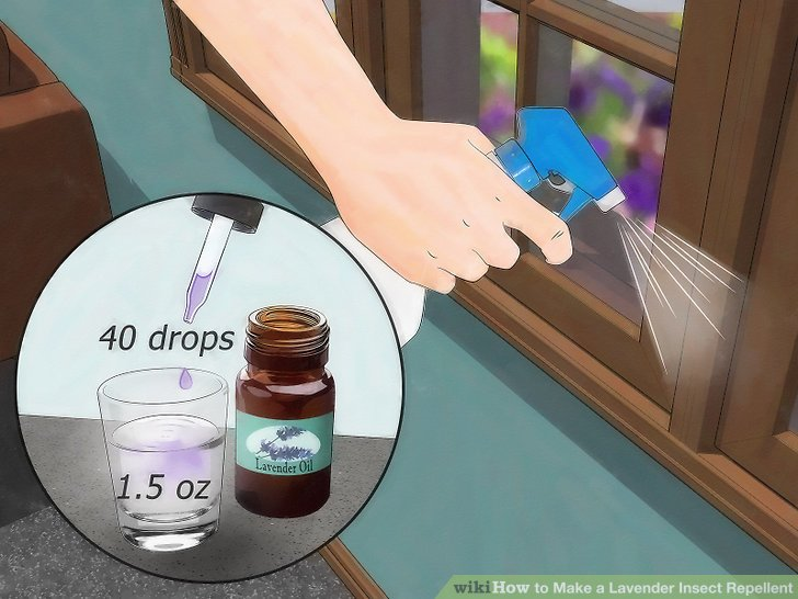 Mischen Sie ein Lavendelspray.