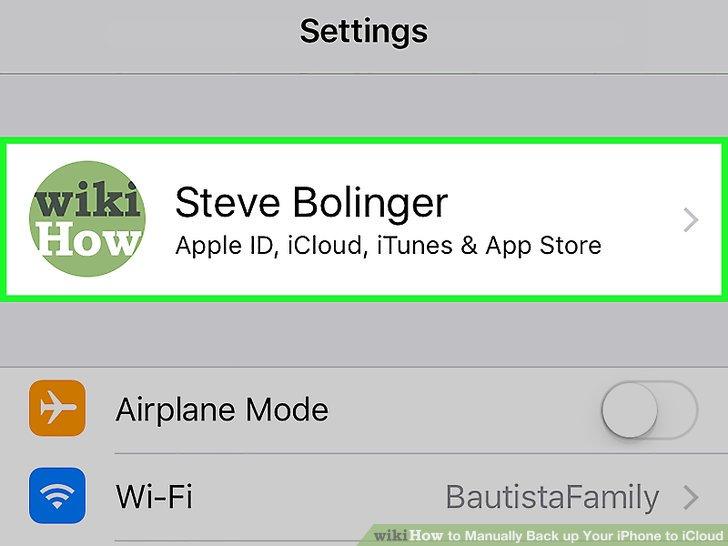Tippen Sie auf Ihre Apple ID.
