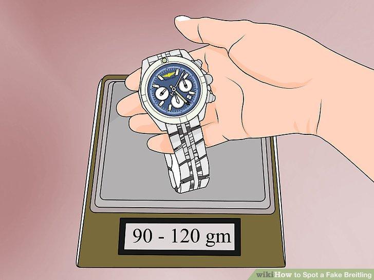 Spüren Sie das Gewicht der Uhr.
