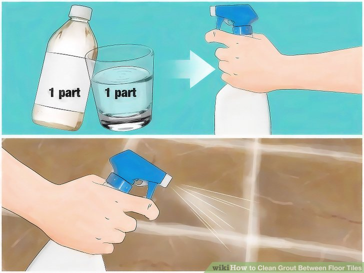 Make a 1:1 solution of white vinegar and water in a spray bottle.