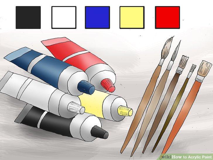 Wählen Sie Ihre Acrylfarbe.