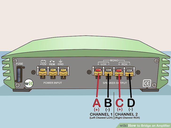 sony car stereo speaker wiring diagram labelled of ph meter how to bridge an amplifier: 7 steps (with pictures) - wikihow