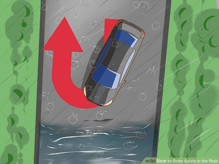Drehen Sie sich um, wenn Sie auf tiefes oder bewegtes Wasser stoßen.