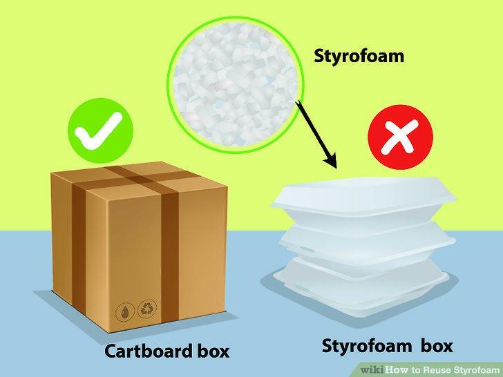 Vermeiden Sie es, Styropor zu kaufen.