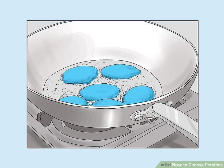 Wählen Sie stärkehaltige Kartoffeln für trockenes oder ölbasiertes Kochen.