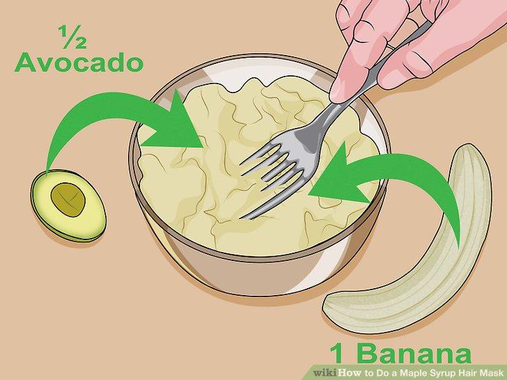 Mash the avocado and banana together.
