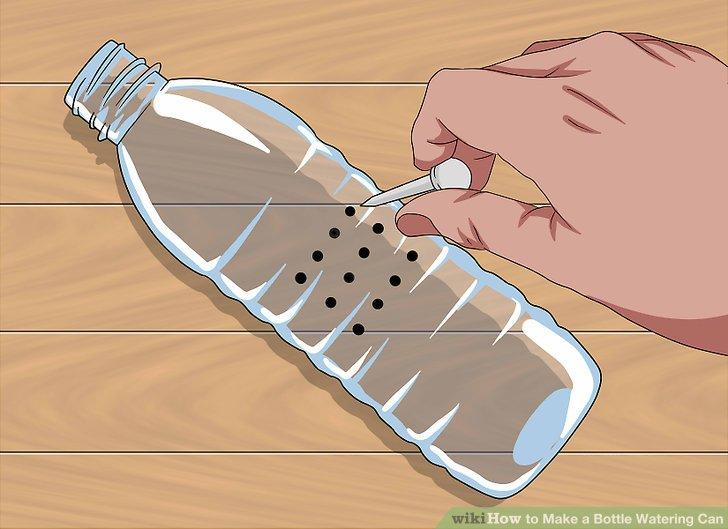 Verwenden Sie einen Nagel oder einen Reißverschluss, um Löcher in das Quadrat zu stanzen.