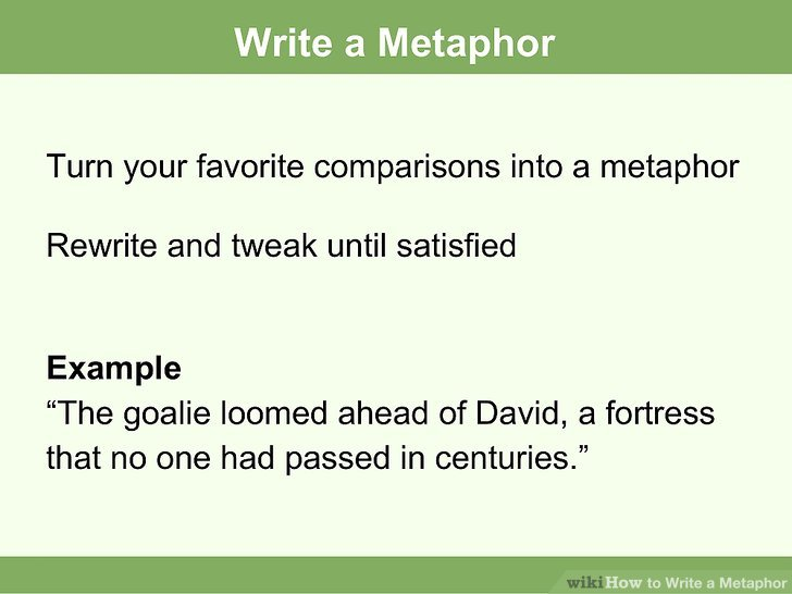 A Metaphor Example Choice Image - example cover letter