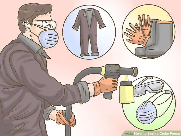 Wear protective gear to avoid ruining your own clothes.