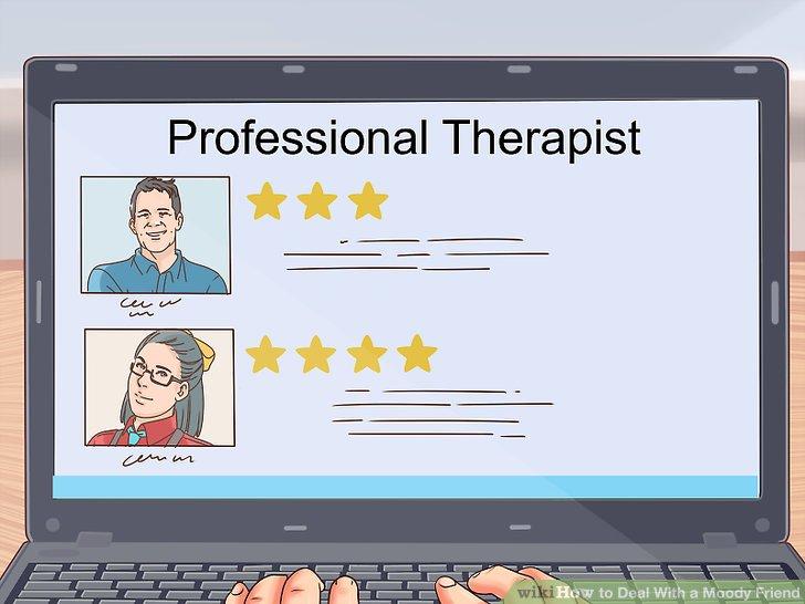 Helfen Sie Ihrem Freund, professionelle Ressourcen zu finden.