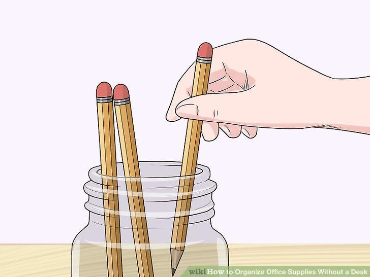 Verwenden Sie Gläser, um kleine Vorräte aufzubewahren.
