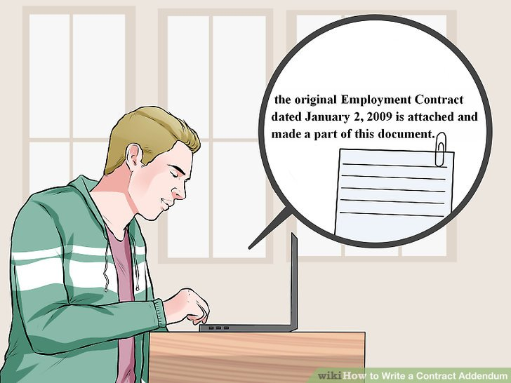 How to Write a Contract Addendum: 12 Steps (with Pictures)