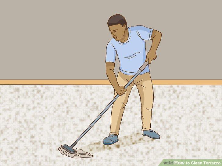 Staub wischen den Boden.