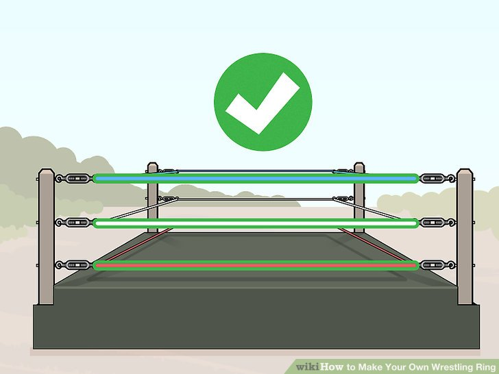 Run wrestling ring rope around the ring through the turnbuckles.