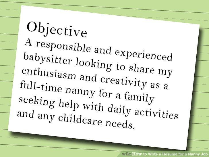 resume for babysitter