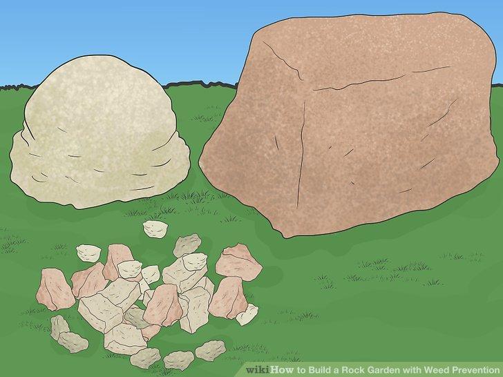 Platzieren Sie den Oberboden zwischen Ihren Felsen.