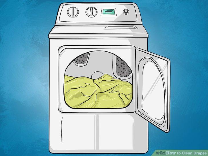 Entfernen Sie jeden Monat den Schmutz, indem Sie Ihre Vorhänge durch einen Trockner laufen lassen.