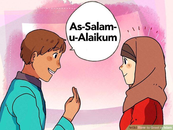 Verwenden Sie die Salam-Begrüßung, wenn Sie einen Muslim treffen.