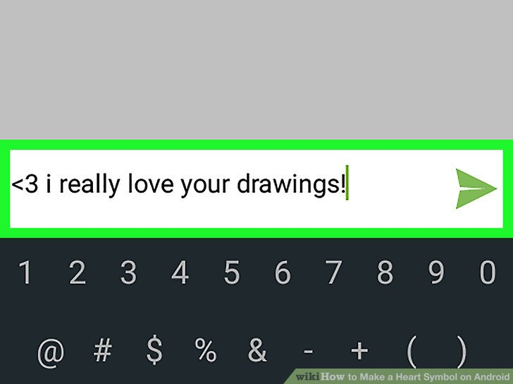 How To How To Make A Heart Symbol On Android