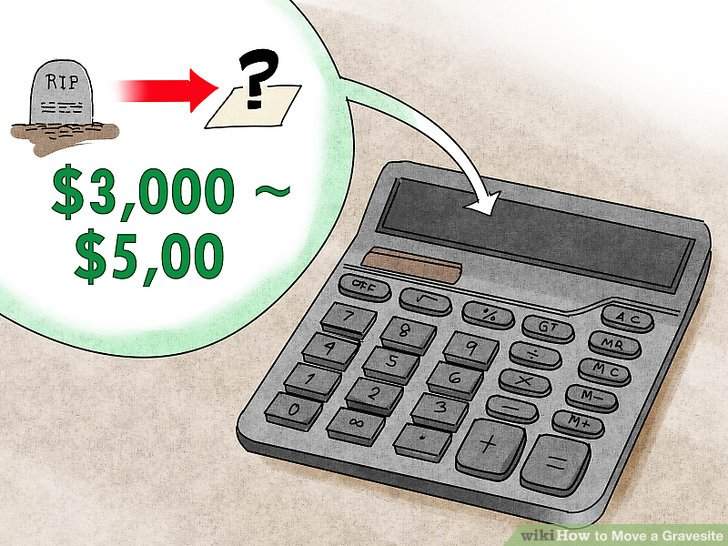 Bestimmen Sie die Kosten für das Verschieben der Grabstätte.