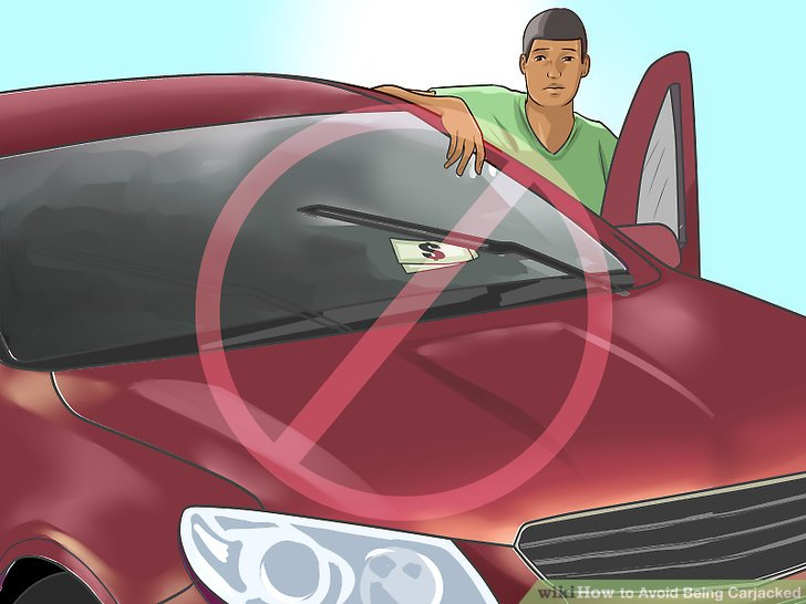 Steigen Sie nicht aus dem Auto, wenn sich etwas unter Ihrem Scheibenwischer befindet.