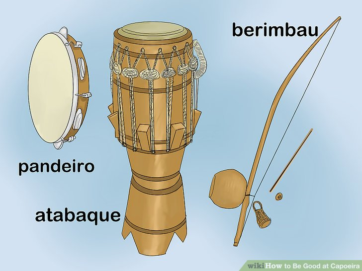 Learn one or more capoeira instruments.