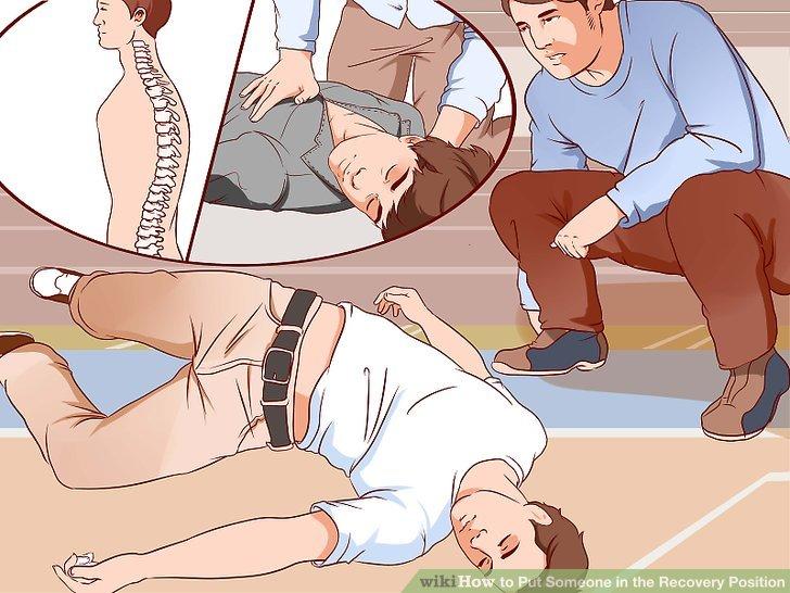 Berücksichtigen Sie mögliche Verletzungen der Wirbelsäule.