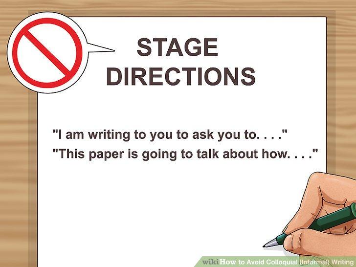 Vermeiden Sie Regieanweisungen.