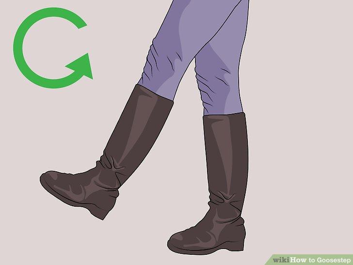 Wiederholen Sie das Treten der linken und rechten Füße.