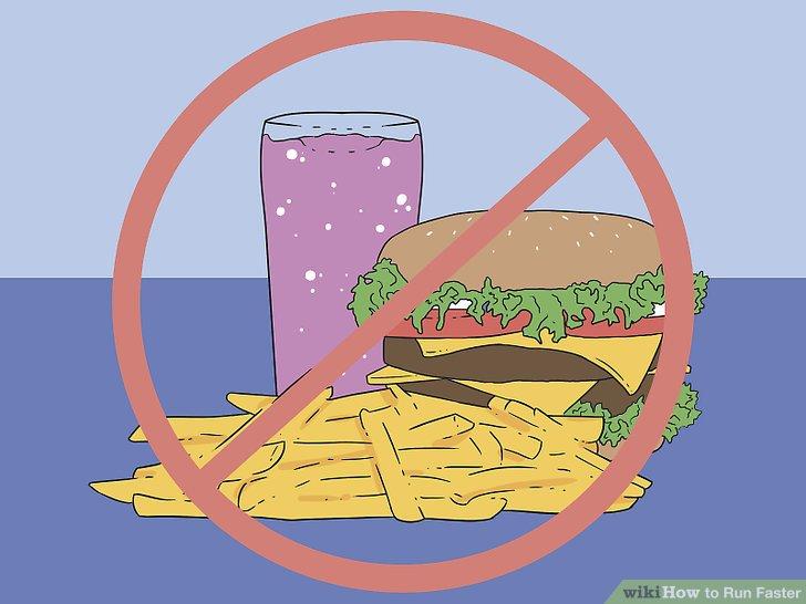 Vermeiden Sie Süßigkeiten und fettige Lebensmittel.