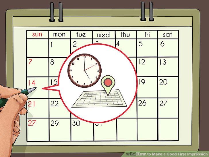 Versuchen Sie, die Uhrzeit und den Ort der Besprechung festzulegen.