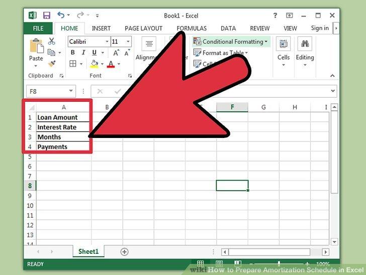 create amortization schedule in excel